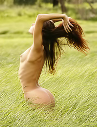 Zanna A has never looked hotter then in this erotic scene out on the open field on meadow.