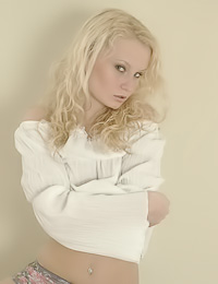 Hot blonde girl Katka A takes off her white shirt and shows us her hot piece of tight ass.