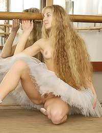 Alla B is professional dancer and sometimes she likes to pose without her panties and top.