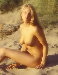 Outdoor nudity is the best wya to relax for this kinky blond with an exhibitionistic streak.
