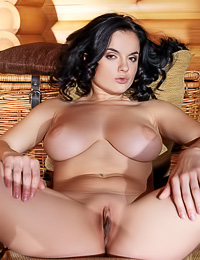 Lana I takes her slutty lingerie off and shows us her amazing big round massive big jugs.