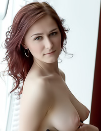 Rosemary: Ravishing brunette hottie takes her panties off and exposes her delicate trimmed snatch.
