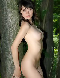 Yuliya makes for a perfect woodland creature when she takes all of her clothes off and plays.