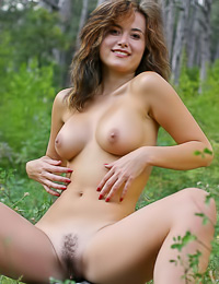 Busty Asian babe Tala A takes off her clothes and shows her wet trimmed hungry pink hole.