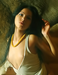 Dreamy brunette model Dasha I takes her clothes off in this amazing artistic photo session.
