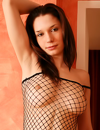 Sasha Q teases us wearing her slutty black bodystockings and shows us her huge breasts.
