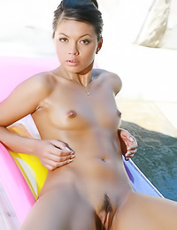 Ulya G: Small breasted brunette Ulya G takes off her bikini and shows us her fantastic hot body.