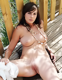 Pale cutie Roselyne A has got a thing for sunbathing naked and she gives us a big show.