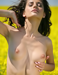 Teen beauty Irina B is loose again, this time a meadow gets to see her completely naked.